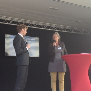 Staatsecretaris Onderwijs Sander Dekker en Katinka Slump